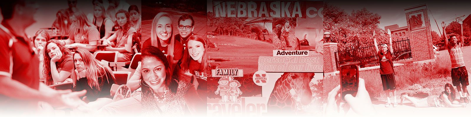 A collage of photos by the First Husker Peer Mentors